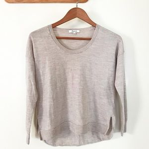 Madewell Clearweather Pullover Beige Sweater